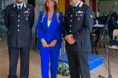Ten. Col. Donato D'Amato - DS Prof.ssa Avv. Simona Sessa - Capo Fanfara Maresciallo Luca Belardo